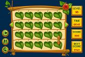 Vector interface Match3 Games and buttons in wooden style, GUI Graphic Assets. poster