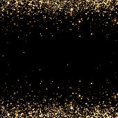 Abstract ,background, black, bright, holiday, champagne spray, Christmas, confetti, decoration, design, dust, effect, holiday background, charm, sparkle, sparkling, glow, gold, Golden rain, holiday, illustration, light, luxury, radiance, shiny ,sparkle, s poster