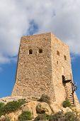 Torre de Santa Elena La Azohia Murcia Spain, on the hill above the village located between Puerto de Mazarron and Cartagena poster