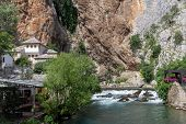 Blagaj Tekke is a Dervish monastery at the source of the Buna River in Bosnia and Herzegovina poster