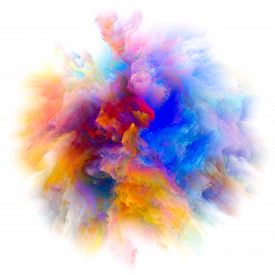 Energy Of Colorful Paint Splash Explosion
