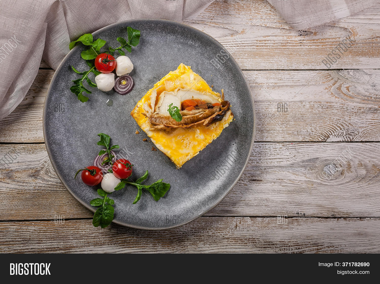 Top View Omelet Fish Image Photo Free Trial Bigstock