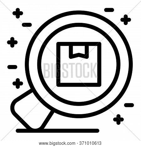 Zoom Box Delivery Icon. Outline Zoom Box Delivery Vector Icon For Web Design Isolated On White Backg