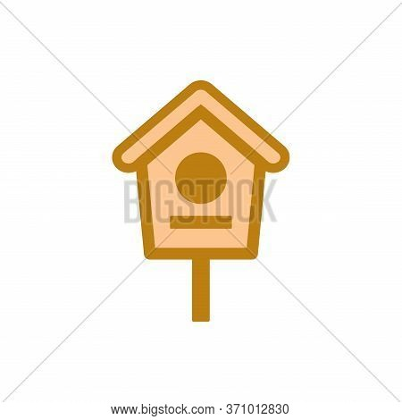 Isolated Bird House Icon With A White Background. Trendy Colored Bird House Icons And Modern Bird Ho