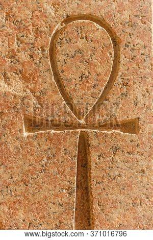 Ancient Egyptian Hieroglyphic Symbol Ankh (