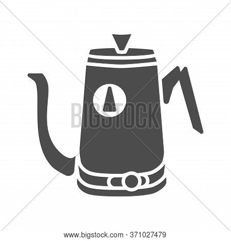 Kitchen Teapot Solid Icon, Kitchenware Concept, Electric Steel Water Heater Sign On White Background