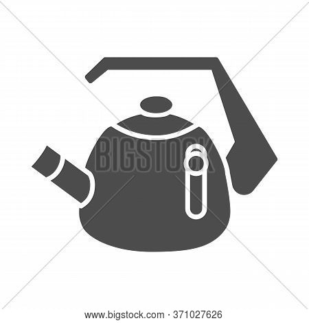 Whistling Kettle Solid Icon, Kitchenware Concept, Classic Style Teapot Sign On White Background, Ket