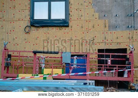 House Thermal Insulation Mineral Wool Slabs, Inside Wall Heat Isolation With Mineral Wool, Building