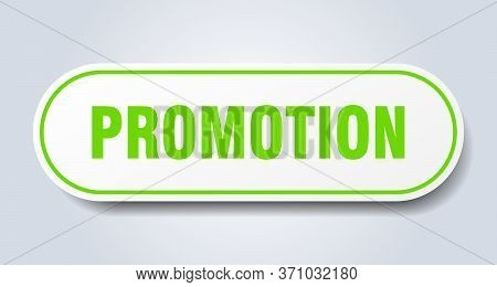 Promotion Sign. Promotion Rounded Green Sticker. Promotion