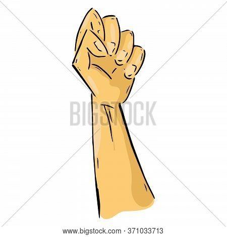Fist Hand Icon. Vector Illustration Fist. Fist Up Hand Drawn..