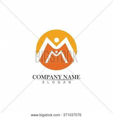 M Letter And M Logo Template Vector Illustration Design