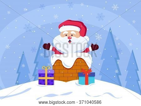 Merry Christmas and happy New Year postcards with Santa Claus. Merry christmas greeting card vector background. Merry christmas and happy new year