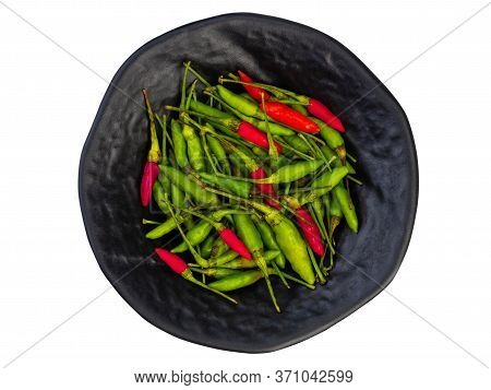 Red And Green Chilli Padi, Bird's Eye Chilli, Bird Chilli. (health Food)
