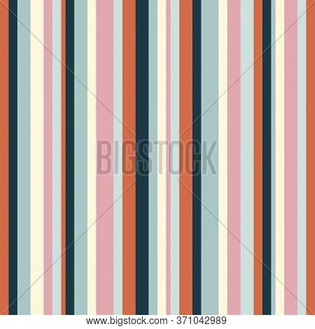 Vertical Stripes Pattern. Simple Vector Seamless Texture With Thin Straight Lines. Modern Abstract G