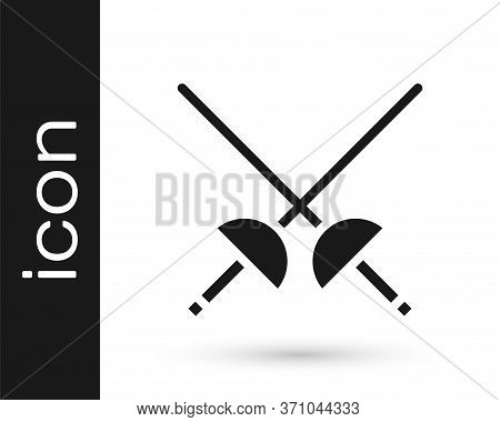 Grey Fencing Icon Isolated On White Background. Sport Equipment. Vector