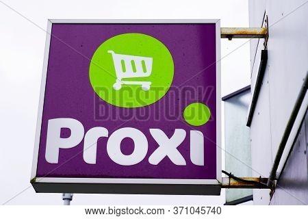 Bordeaux , Aquitaine / France - 03 12 2020 : Proxi Sign Brand Logo Store Supermarket On Market Shop