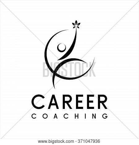 Simple Abstract Human Catching A Star Vector Best For Business Or Empower Motivation Logo Design And