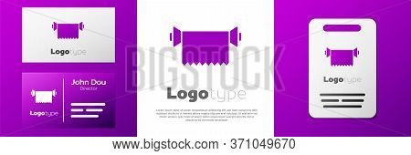 Logotype Textile Fabric Roll Icon Isolated On White Background. Roll, Mat, Rug, Cloth, Carpet Or Pap