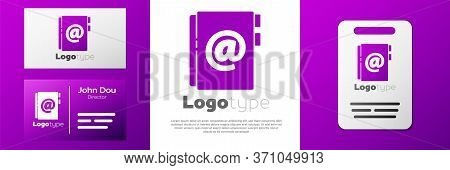 Logotype Address Book Icon Isolated On White Background. Notebook, Address, Contact, Directory, Phon