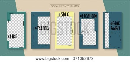 Social Stories Cool Vector Layout. Online Shop Rich Vip Invitation Apps. Blogger Simple Frame, Socia