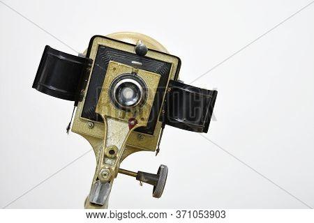 Germany - Circa 1972 : Vintage Camera Lens Made By Will Wetzlar Company From Germany, Circa 1972.