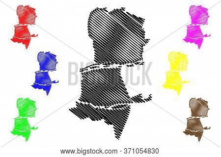 Tours City (french Republic, France) Map Vector Illustration, Scribble Sketch City Of Tours Map