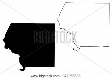 Jackson County, Illinois (u.s. County, United States Of America, Usa, U.s., Us) Map Vector Illustrat