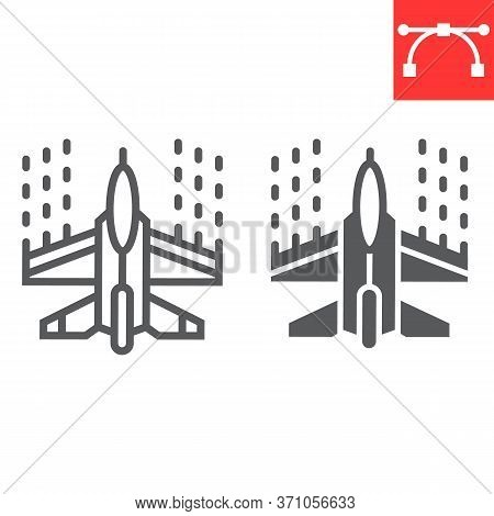 Spaceship Shooting Line And Glyph Icon, Video Games And Arcade, Arcade Game Sign Vector Graphics, Ed