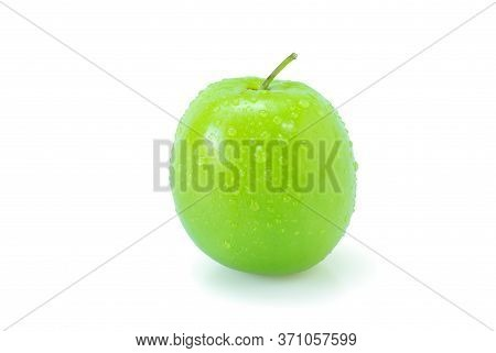 Fresh Green Jujube Fruits, Delicious Chinese Jujube Fruits Isolated On White Background. The File In