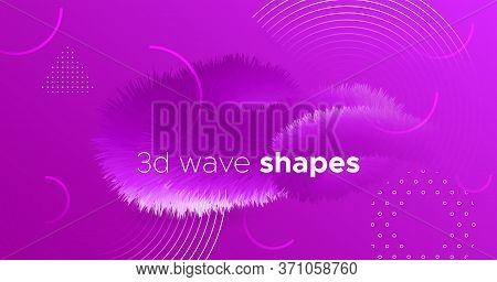 3d Movement. Fluid Design. Pink Gradient Pattern. Vector Futuristic Shapes. Abstract Motion. 3d Move