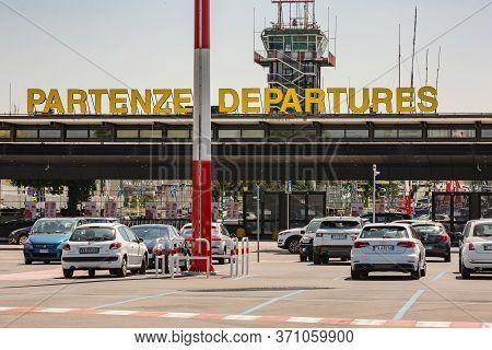 Milano, Italy. Malpensa International Airport. June, 2020: Airport Malpensa Milano During The Quaran