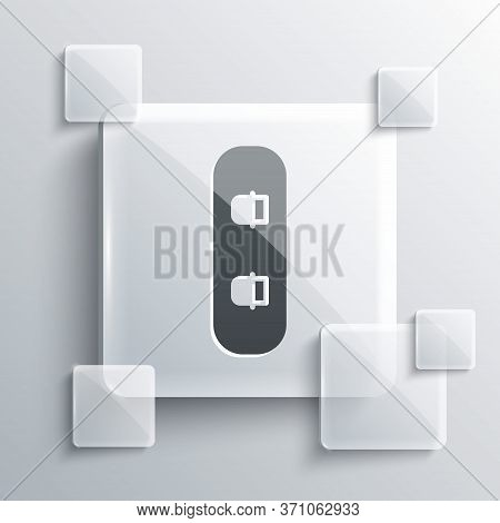 Grey Snowboard Icon Isolated On Grey Background. Snowboarding Board Icon. Extreme Sport. Sport Equip