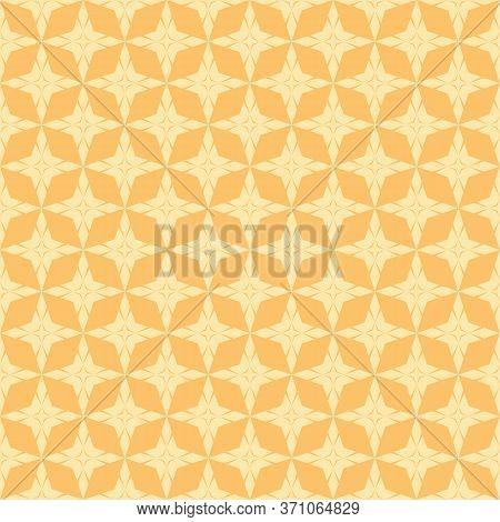 Vector Geometric Seamless Pattern With Star Shapes, Diamonds, Rhombuses, Grid, Net, Lattice. Simple