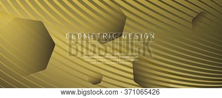 Abstract Vector Curve. Golden Dynamic Wallpaper. 3d Fluid Lines. Creative Banner. Gold Abstract Vect