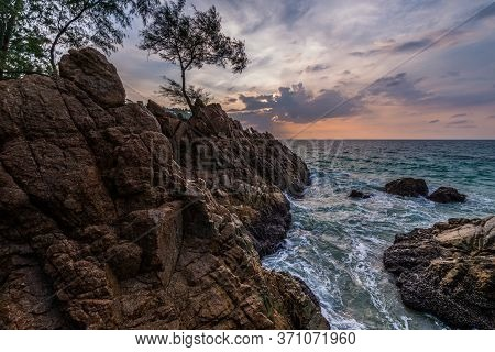 Landscape From Phuket View Point At Banana Beach  Located In  Choeng Thale, Thalang, Phuket Province