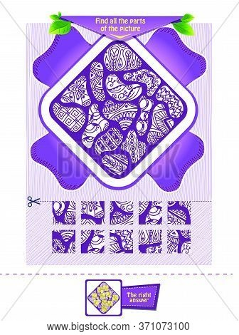 Findthe Parts Of The Zentangle Adult