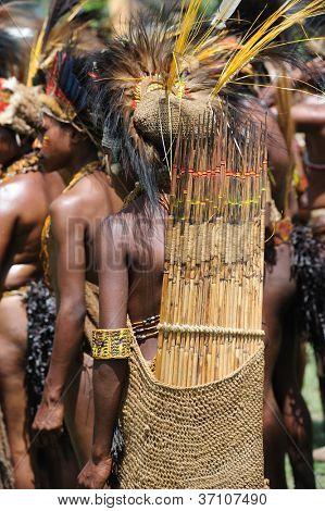 GOROKA, PAPUA, NEW GUINEA - SEPTEMBER 17: colorful portrait of  an aboriginal at Goroka Tribal Festival. Papua New Guinea on September 17, 2011 in Goroka, Papua New Guinea.