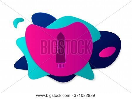 Color Dildo Vibrator For Sex Games Icon Isolated On White Background. Sex Toy For Adult. Vaginal Exe