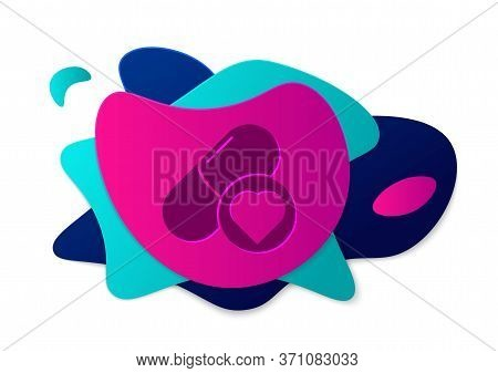 Color Pills For Potency, Aphrodisiac Icon Isolated On White Background. Sex Pills For Men And Women.