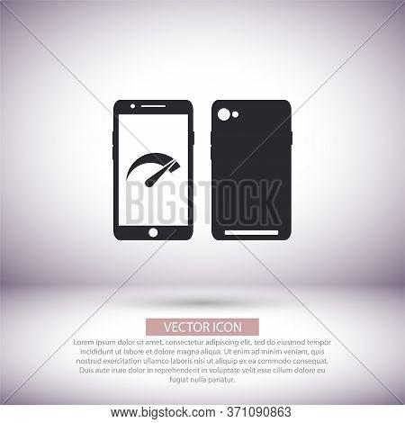 Speed Test Phone Icon , Lorem Ipsum Flat Design