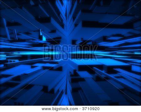Fantasy blau futuristisch Konstruktionen