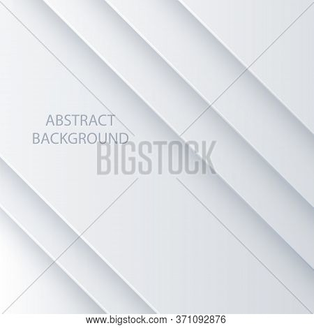 White Vector Abstrac Background. Background Bright White Geometric Design. Background For Wide Banne