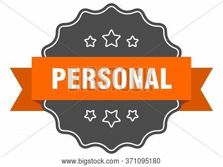 Personal Isolated Seal. Personal Orange Label. Personal