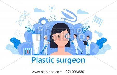 Plastic Surgeon Concept Vector. Beauty Industry, Beauty Injections And Rejuvenation Procedures Illus