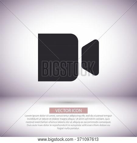 Camcorder Vector Icon , Lorem Ipsum Flat Design