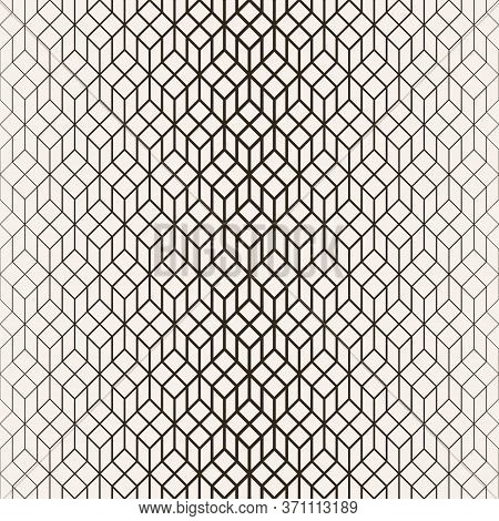 Vector Seamless Pattern. Abstract Halftone Background. Modern Stylish Texture. Repeating Grid With H