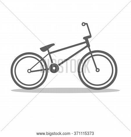 Bmx Bicycle Vector Illustration Isolated. Urban Bike Symbol. Street Riding. Skate Park.