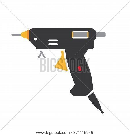 A Hot Glue Gun Loaded With A Glue Stick Vector Illustration.