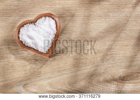 Magnesium Chloride In Heart Shaped Bowl - Text Space