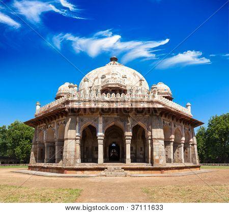 Isa Khan Tomb in Humayun's Tomb Complex. Delhi, India poster